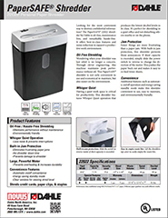22022 PaperSAFE Product Sheet