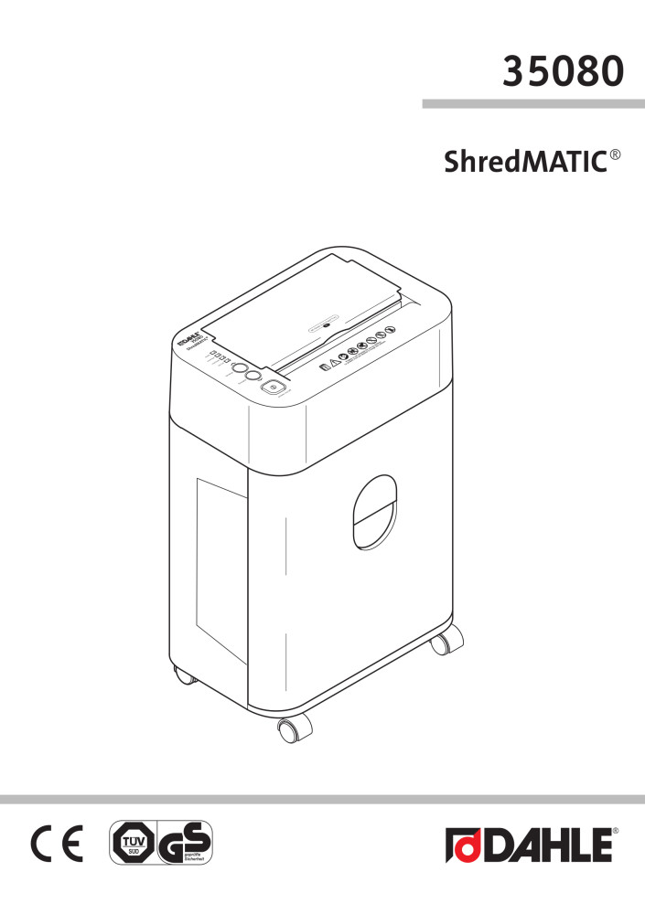 Dahle 35080 ShredMATIC® User Guide