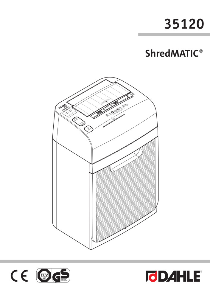 Dahle 35120 ShredMATIC® User Guide