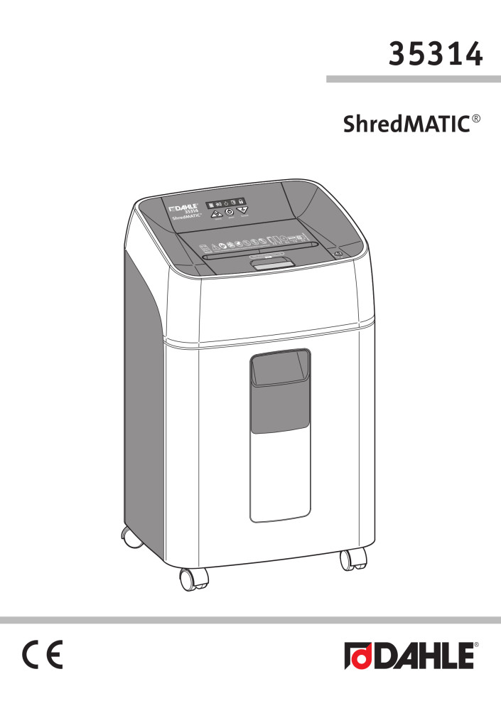 Dahle 35314 ShredMATIC® User Guide